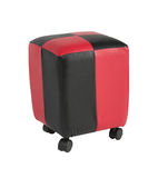 Leather stool with wheels Royalty Free Stock Photography