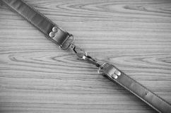 Leather strap black and white color tone style Stock Photos