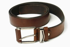 Leather strap isolated Royalty Free Stock Photos