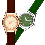 Leather strap watch. Stock Photos