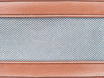 Leather strips with tweed grey fabric Royalty Free Stock Image