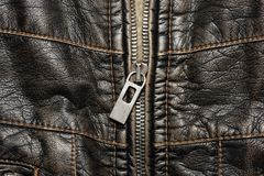 Leather structure with a fastener royalty free stock photo