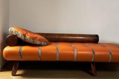 Leather stylish sofa Stock Photography