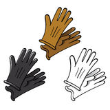 Leather or Suede Gloves Royalty Free Stock Photo