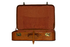 Leather suitcase Royalty Free Stock Images