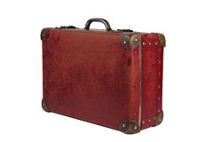 Leather suitcase Stock Image