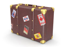 Leather suitcase Stock Photos