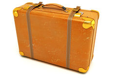 Leather Suitcase Stock Images