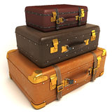 Leather Suitcase Royalty Free Stock Photography