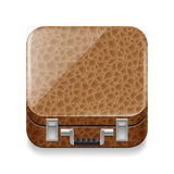 Leather suitcase Royalty Free Stock Image