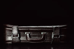 Leather suitcase Stock Photo