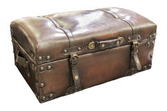 Leather suitcase Royalty Free Stock Photo