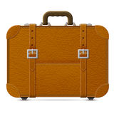 Leather suitcase, front view Royalty Free Stock Photo