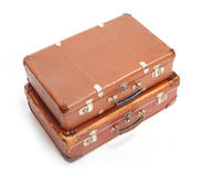 Leather suitcase. Royalty Free Stock Photo
