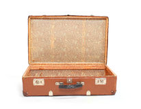 Leather suitcase. Stock Images