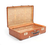Leather suitcase. Stock Photography