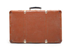 Leather suitcase. Royalty Free Stock Images