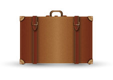Leather suitcase vontage Stock Photos