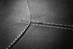 Leather surface with seams Royalty Free Stock Photos