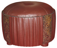 Leather tabouret Royalty Free Stock Image