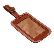 Leather tag royalty free stock photography