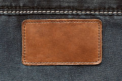 Leather tag Stock Images