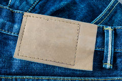 leather tag Stock Image