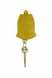 Leather tag and keychain Royalty Free Stock Photo