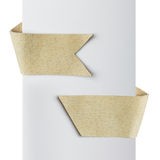 Leather tag ribbons Stock Images