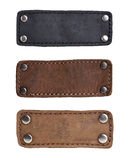 Leather tags stock photos