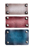 Leather tags royalty free stock photography
