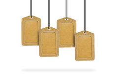 Leather Tags Stock Photo