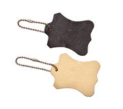 Leather tags Royalty Free Stock Image