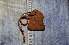 Leather tags Royalty Free Stock Photo