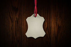 Leather tags Royalty Free Stock Images