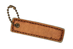 Leather tags Stock Photography