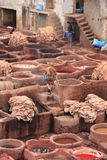 Leather tanneries, Fes Stock Image