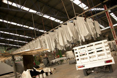 Leather tannery stock images