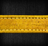 Leather and textile background Stock Photography