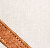 Leather and textile background Royalty Free Stock Image