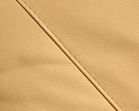 Leather texture. Closeup of leather texture with a seam Stock Images