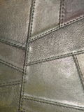 Leather texture. Natural black leather texture suitable as background Royalty Free Stock Photography