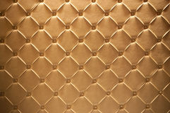 Leather texture. Golden leather texture closeup, useful as background Royalty Free Stock Images