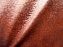 Leather texture. Very good texture of brown European sofa leather Stock Image