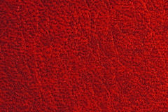Leather texture. Natural qualitative red leather texture. Close up stock photography