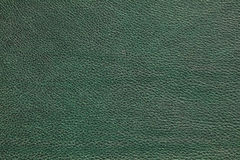 Leather texture. Green leather background texture, close-up stock photo