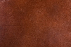 Leather texture. Natural brown leather texture. Close up Royalty Free Stock Images