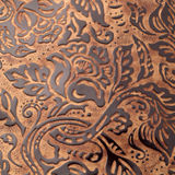 Leather texture. With abstract ornaments stock photo