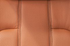 Leather texture background. Car interior detail Stock Photos