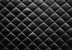 Leather texture. Black leather background - rhombus texture Royalty Free Stock Photo